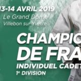 En direct : CHAMPIONNAT DE FRANCE Cadets
