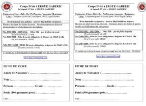 Coupe Ergué Gaberic 25 Mai