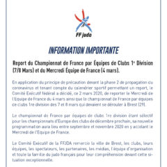 Report Mercredi équipe de France et France equipes 1ière division