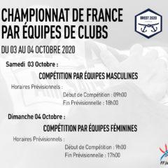 Le retrait des places pour le CHAMPIONNAT DE FRANCE DE JUDO 1ère DIVISION PAR ÉQUIPES DE CLUBS à Brest