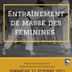 STAGE DE PERFECTIONNEMENT SPORTIF DES FEMININES dimanche 17 octobre Pont de buis